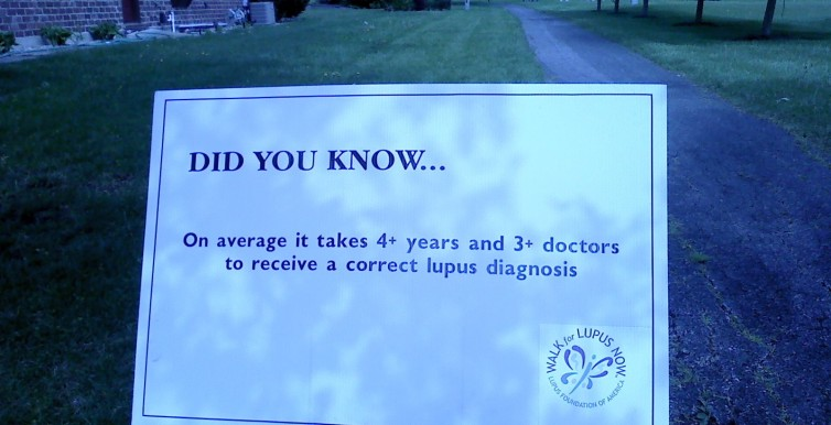 Lupus Walk 2010 Sign