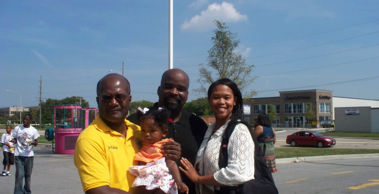 With Markam Trustee Rondell Jones and Family