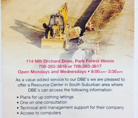 IDOT DBE Resource Center flyer