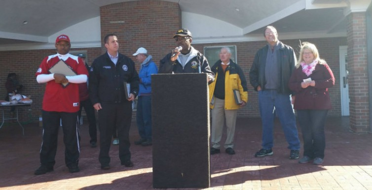 Speaking at the Cancer Support Walk