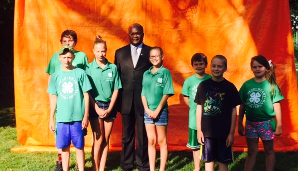 With Cook County 4-H volunteers