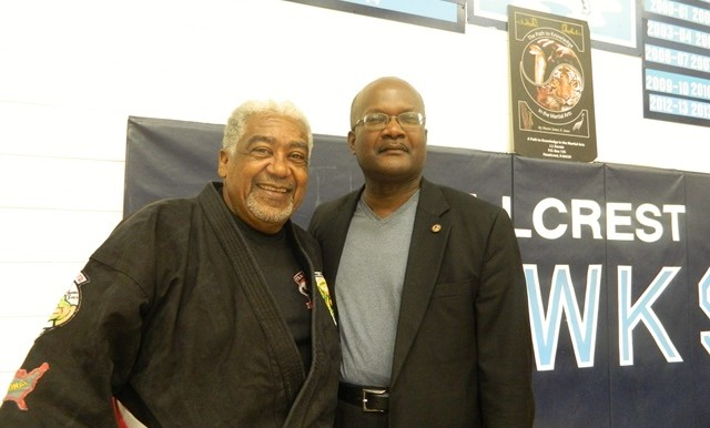 With Grand Master James Jones