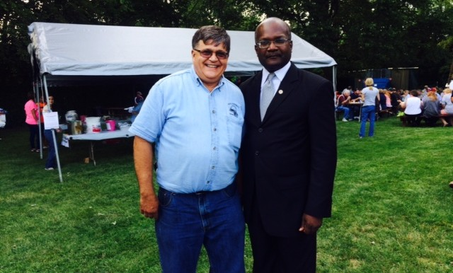 With Mark Schneidewind, Manager of the Will County Farm Bureau