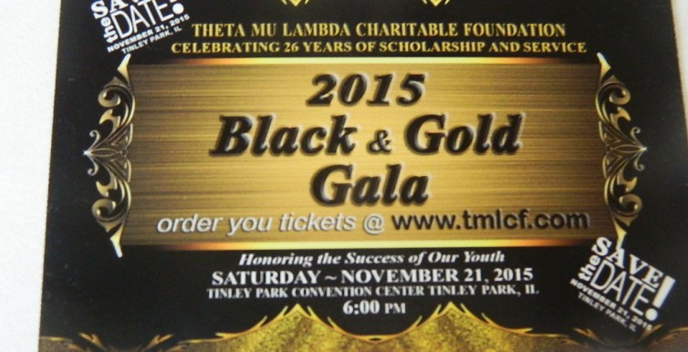 Black n Gold Save The Date